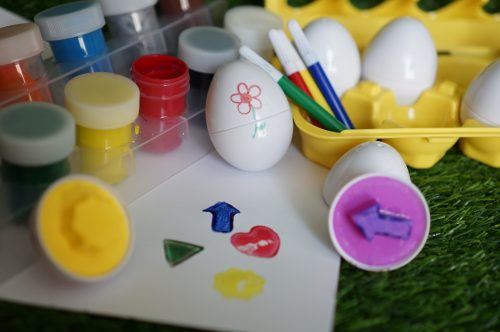 Montessori toys matching eggs shapes colours