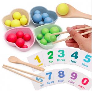 Fine motor skills beads numbers 21